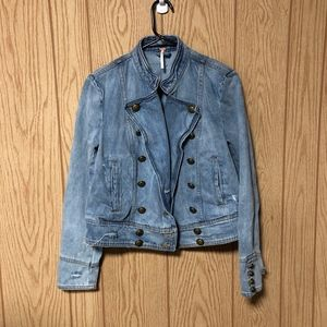 Free People Ferry Cotton Denim Jacket